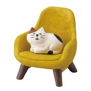 デコレ レトロチェア 三毛猫付き 純喫茶コンブル ZCB-92446 コンコンブル クリックポスト不可