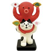 デコレ お正月 猫と蛸 めでた踊り ZSG-92249 コンコンブル DECOLE concombre クリックポスト不可